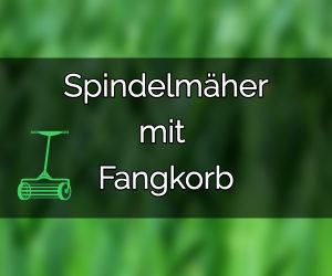 Spindelmäher mit Fangkorb